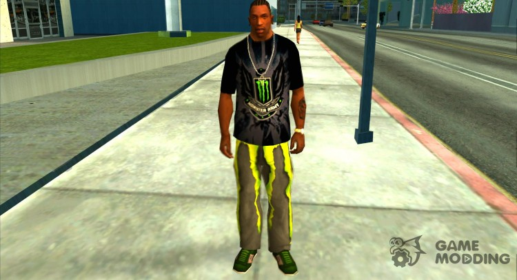 Monster energy suit pack для GTA San Andreas
