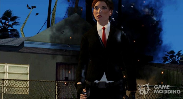Lara Croft Hitman from Lara Croft and the Temple of Osiris для GTA San Andreas