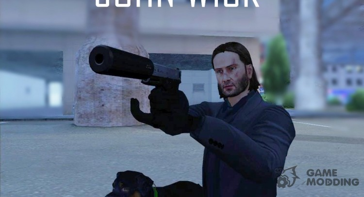 John Wick-Payday 2 (No Glass) for GTA San Andreas