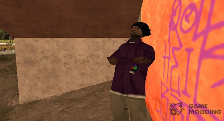 Ballas3 without glasses for GTA San Andreas