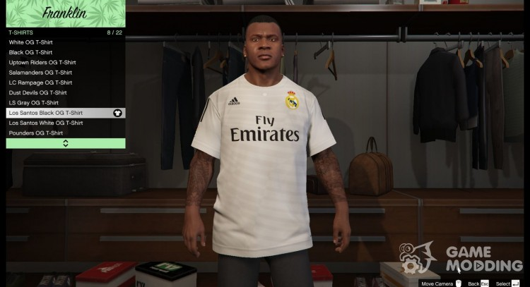 Real Madrid shirt for Franklin for GTA 5