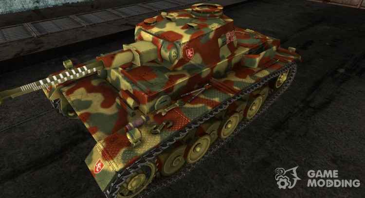 VK3001 heavy tank program (H) Patched Camouflage Early 1945 for World Of Tanks