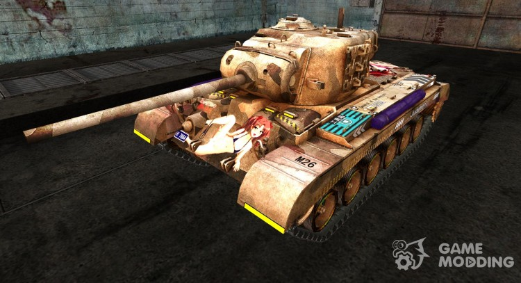 Anime skin for the M26 Pershing for World Of Tanks