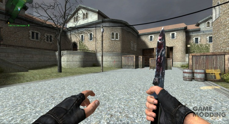 Artic Camo + Bloody Blade Knife for Counter-Strike Source