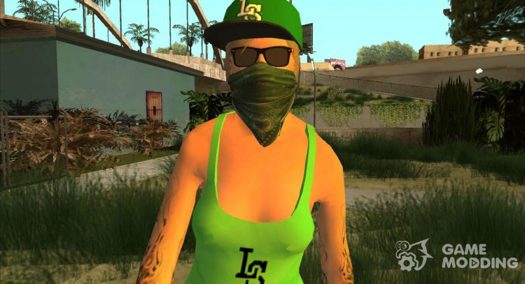 Female GTA Online Grove Style for GTA San Andreas