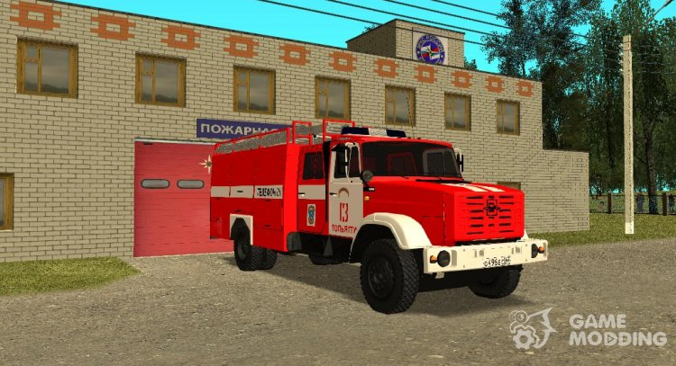 The tanker fire AC-40 (ZIL-433104) for GTA San Andreas
