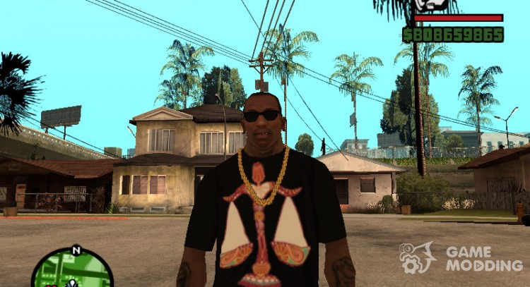 T-shirt with sign of the Zodiac Scales for GTA San Andreas