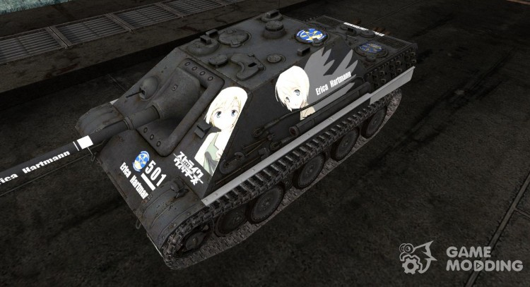 Anime skin for JagdPanther for World Of Tanks