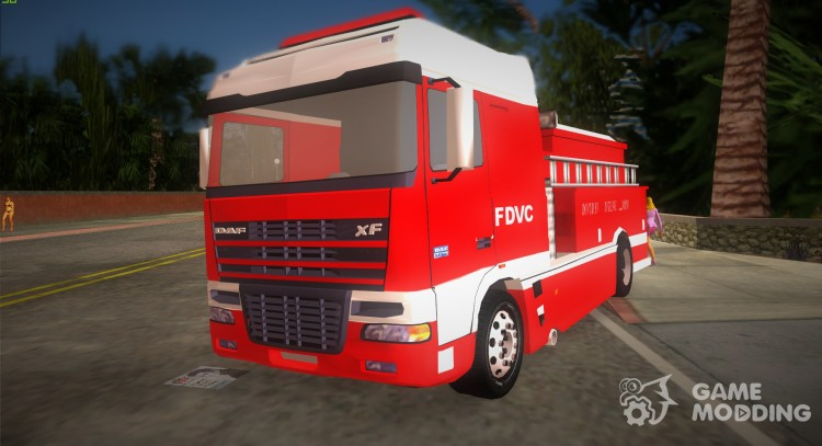 DAF XF 530 Fire Truck for GTA Vice City