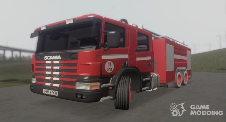 Fireman Scania P 144 G Odessa Port Plant for GTA San Andreas