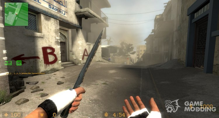 The map Dust II from CS:GO 2012 for Counter-Strike Source
