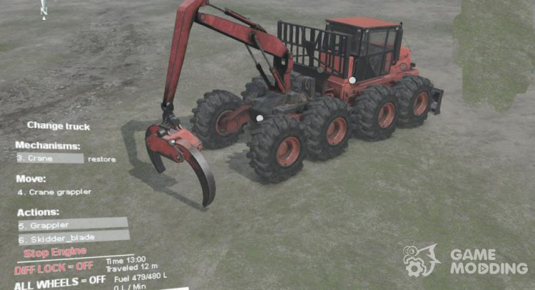 K9000 Skidder for Spintires 2014
