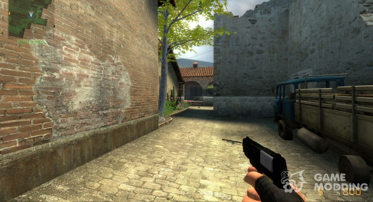 Black p228 with wood grip for Counter-Strike Source