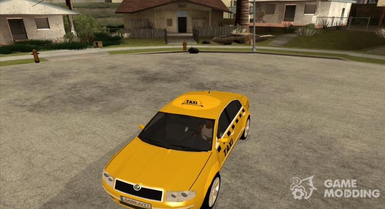 Skoda Superb TAXI cab for GTA San Andreas