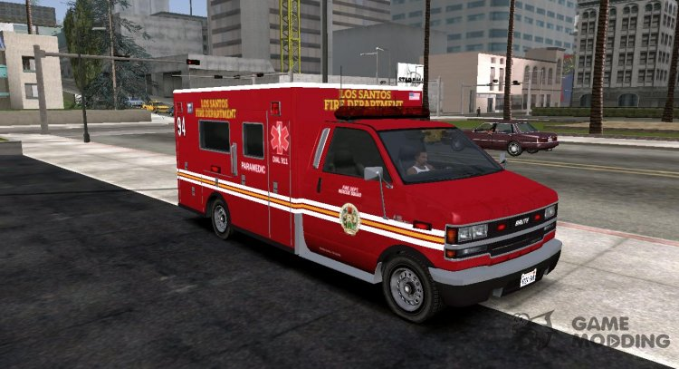 GTA V Brute Ambulance for GTA San Andreas