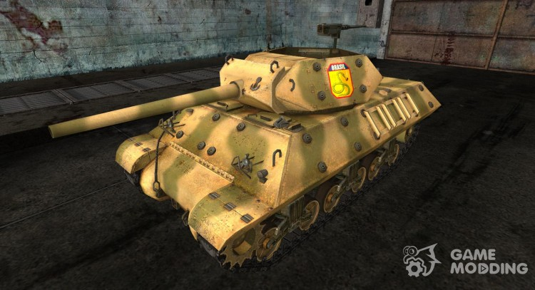 Skin for M10 Wolverine Brazil for World Of Tanks