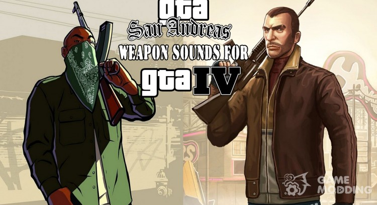 Weapons sounds from GTA San Andreas for GTA 4