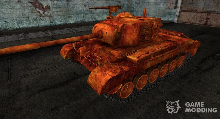 Skin for M46 Patton in flames for World Of Tanks