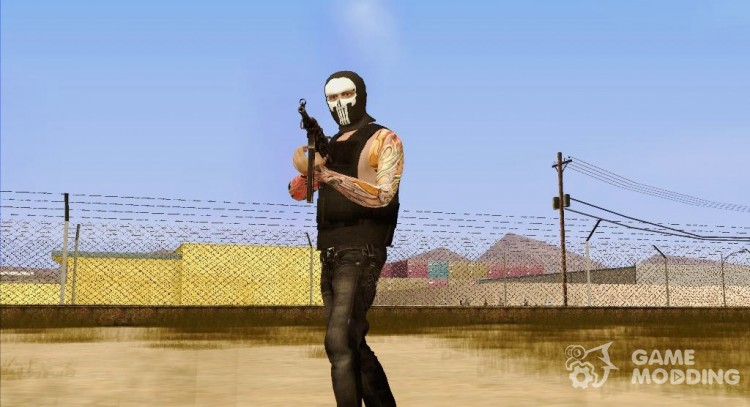 Guy in mask Punisher from GTA Online for GTA San Andreas