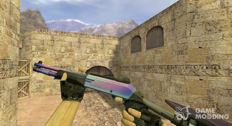 XM1014 (M4 Super 90) Northern lights for Counter Strike 1.6