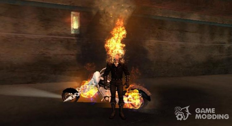 Ghost Rider mod 1 9 for GTA San Andreas