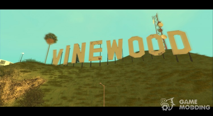 GTA V Vinewood Sign v3.0 для GTA San Andreas