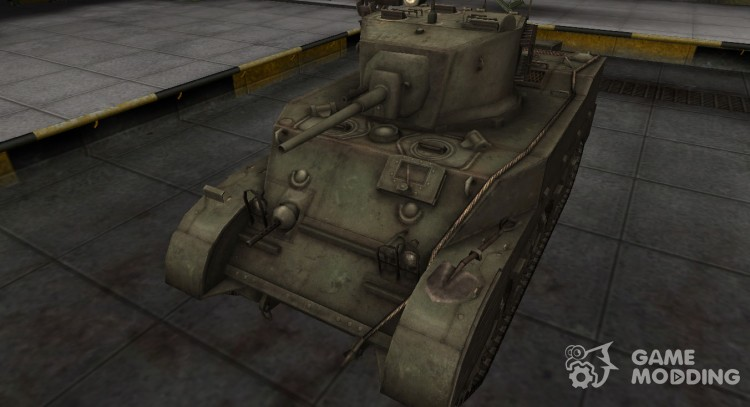 Emery cloth for Chinese Tank M5A1 Stuart for World Of Tanks
