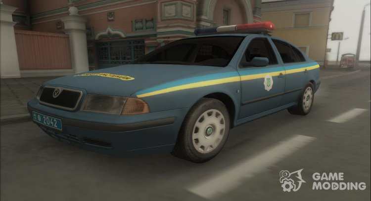 Skoda Octavia Police Of Ukraine for GTA San Andreas