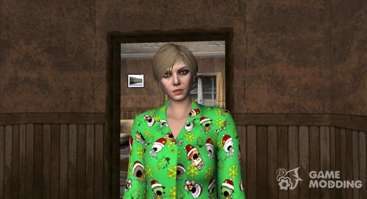 Female Green Pajamas DLC for GTA San Andreas