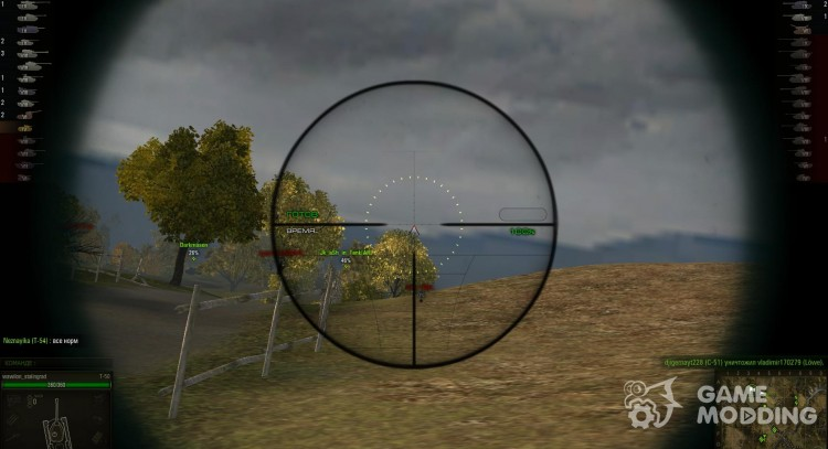 WoT sniper scope for World Of Tanks