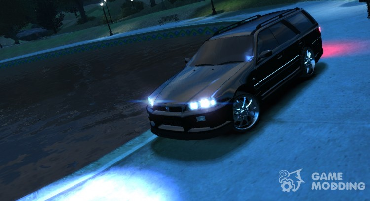 Nissan Stagea R34 GT-R [Light Tuning] for GTA 4