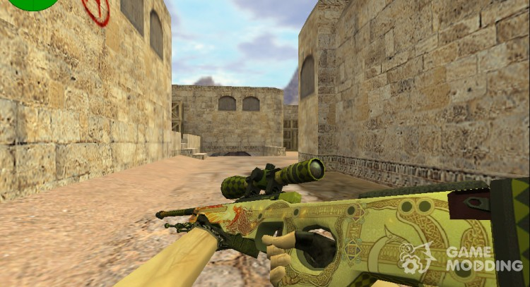 AWP Dragon Lore from CS: GO for Counter Strike 1.6