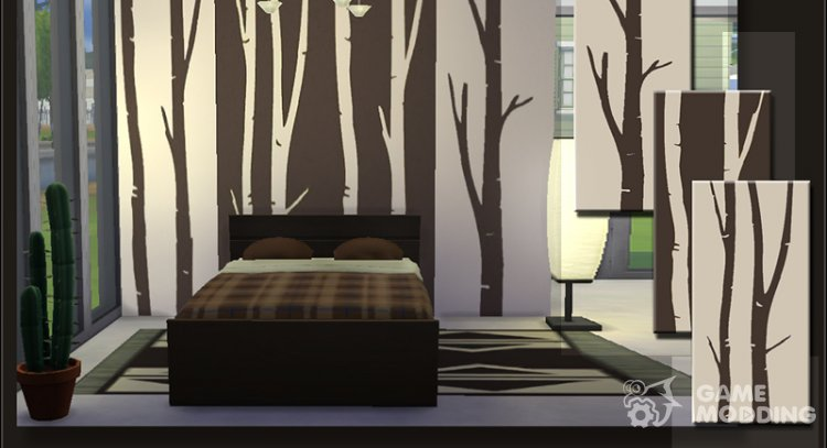 Branches Walls Set for Sims 4