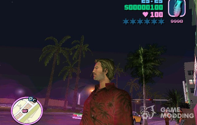 The skin of the iOS version 2 for GTA Vice City