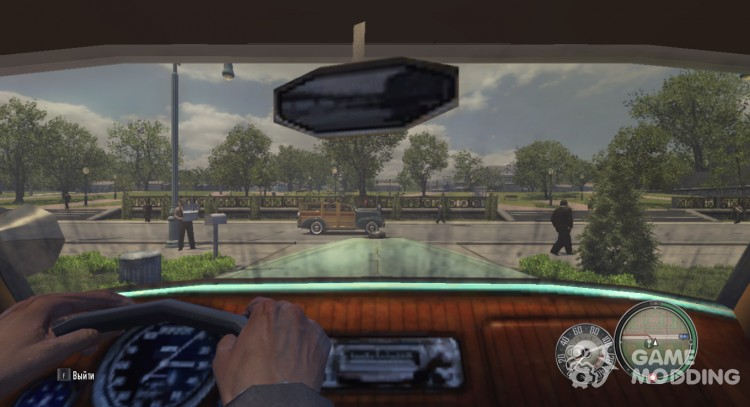 The view from the wheel for Mafia II