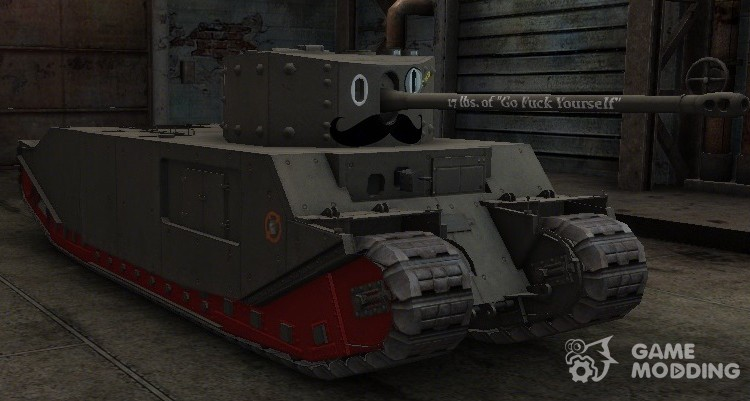 Mustachioed TOG II* skin for World Of Tanks