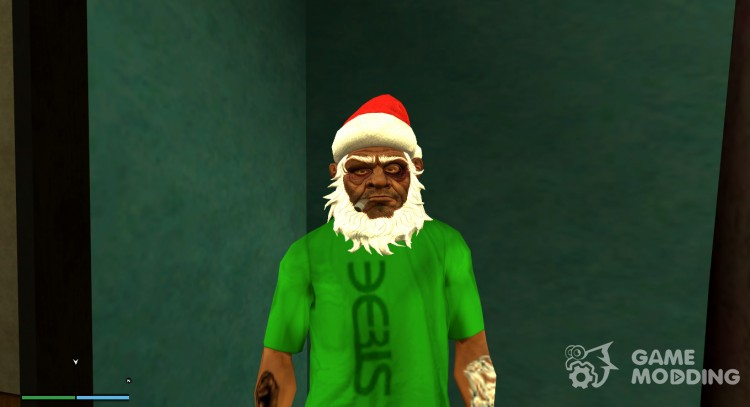 Drunk Santa Claus mask v2 (Christmas 2016) for GTA San Andreas