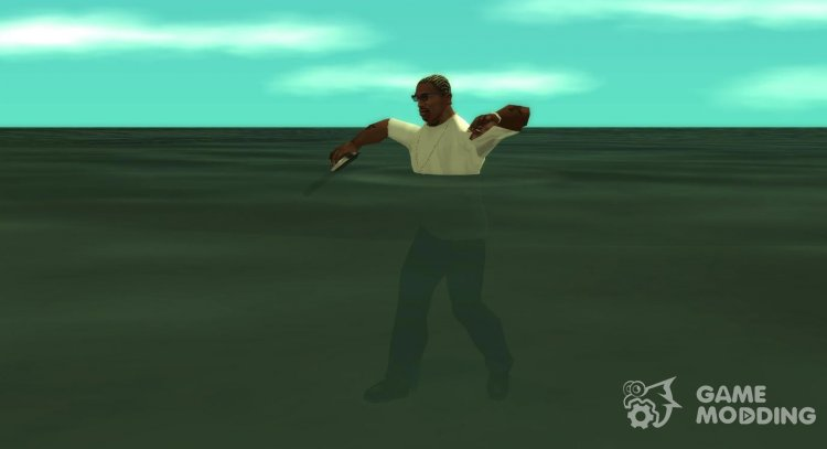 Difficult movement in the water for GTA San Andreas