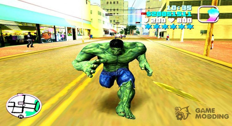 Hulk Mod for GTA Vice City