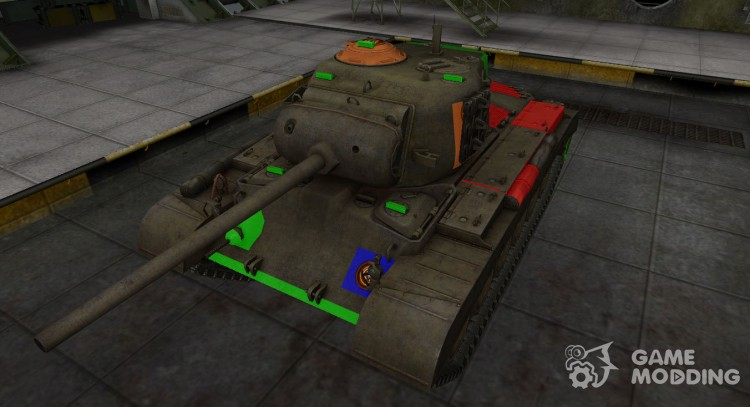 High-quality skin for the M26 Pershing for World Of Tanks