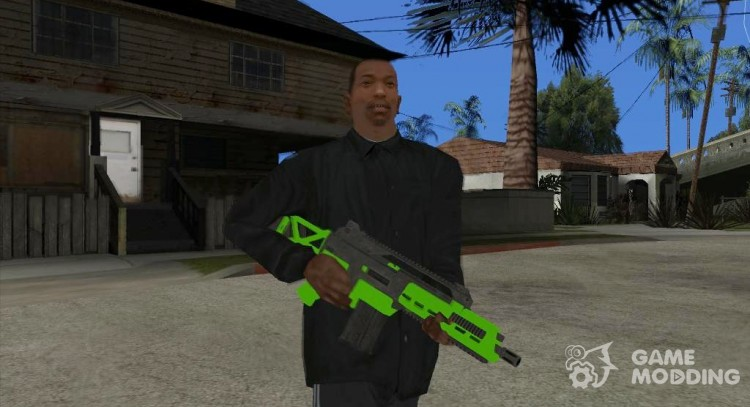 Green Special Carbine (GTA Online DLC) for GTA San Andreas
