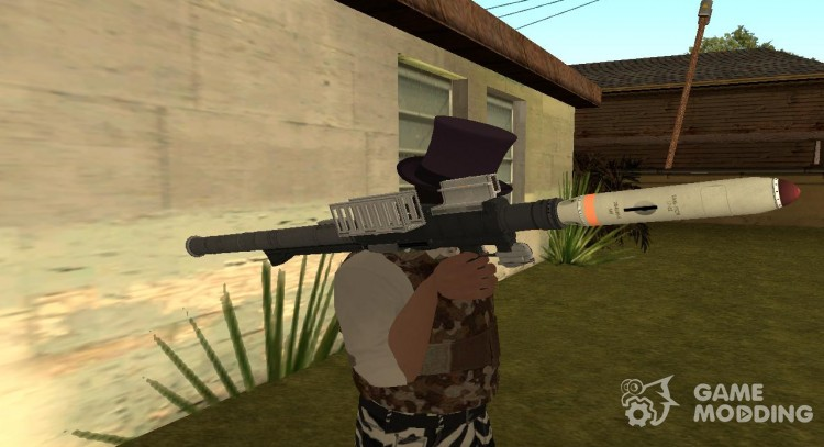 GTA V Homing Launcher-Misterix 4 Weapons for GTA San Andreas