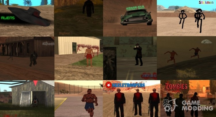 Mystical creatures for GTA San Andreas
