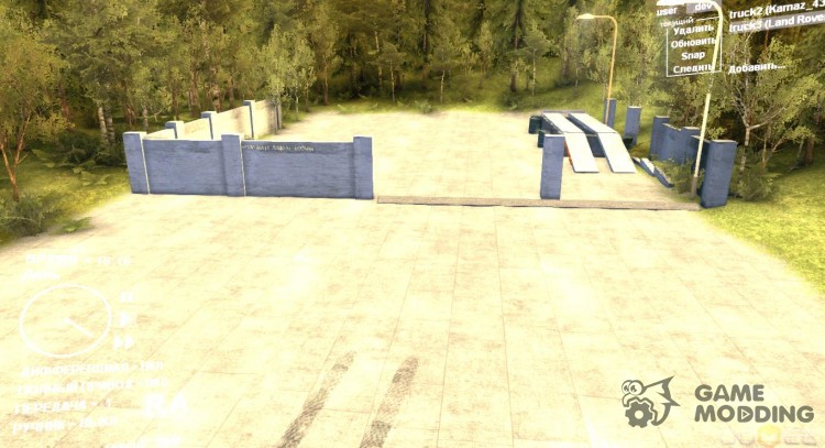 Parking and viewing place for Spintires DEMO 2013