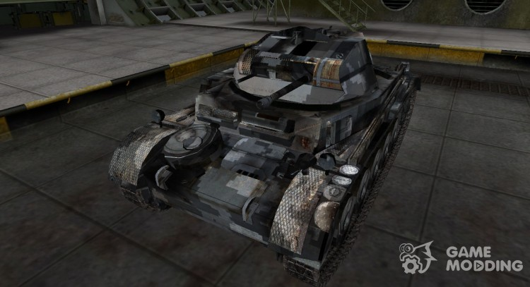 Camouflage skin for PzKpfw II for World Of Tanks