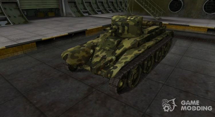 Skin for BT-2 with camouflage for World Of Tanks