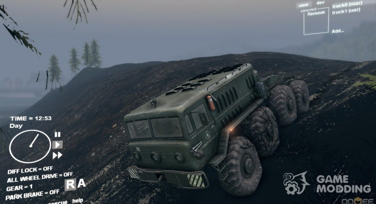 Burnt forest for Spintires DEMO 2013