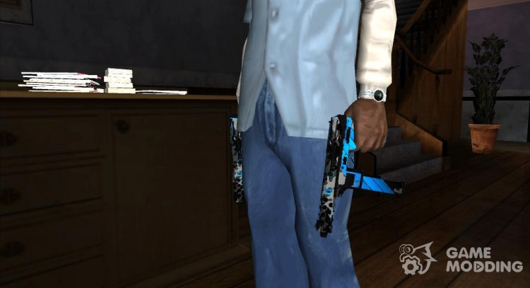 TEC-9 Neural CS GO Blue for GTA San Andreas