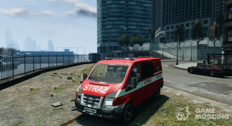 Ford Transit Polish Firetruck for GTA 4