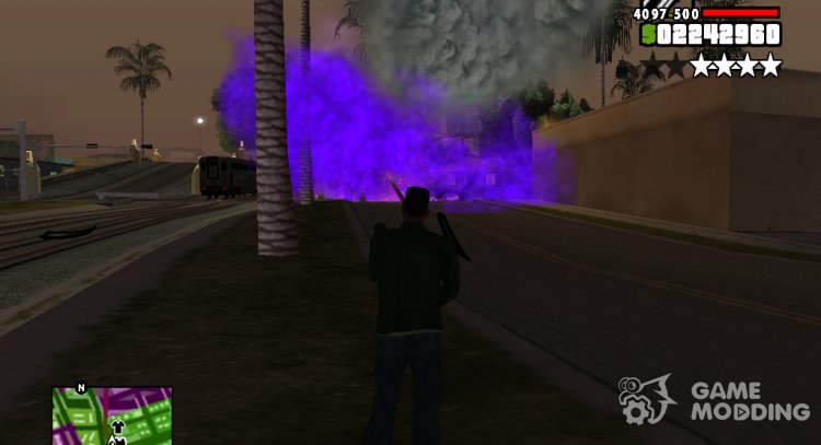 Purple Effects for GTA San Andreas